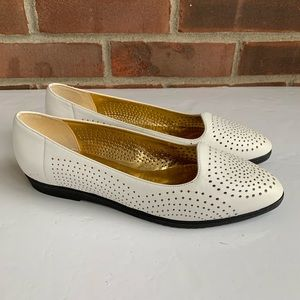 New Vintage Selby white leather loafers